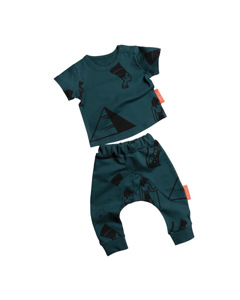 Patterned Tshirt&jogger Set