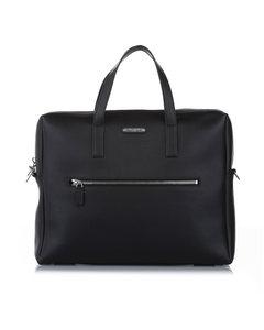 Ysl Leather Business Bag Black