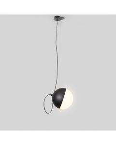 Half Moon Medium Hanglamp - Mat Zwart