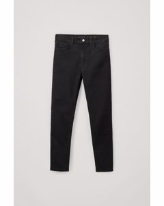 High Waisted Slim Fit Jeans Black