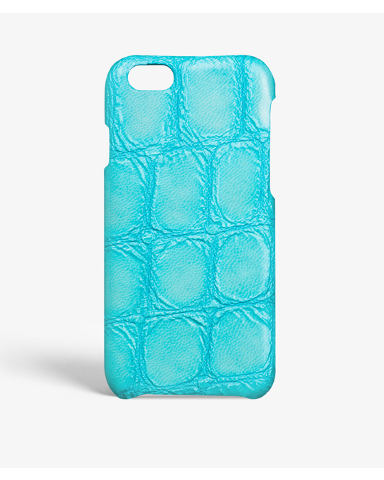 The Case Factory iPhone 6/6s Croco Turquoise
