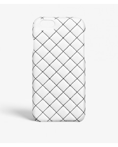 iPhone 6/6s Quilted Nappa White Black Stitch