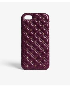 iPhone SE/5/5s Studs Nappa Burgundy