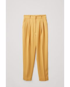 Tapered Trousers Yellow