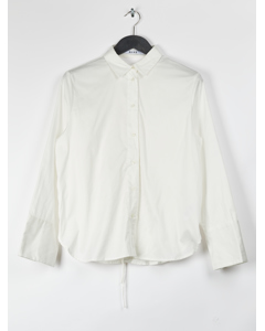 Lacing Back Shirt White
