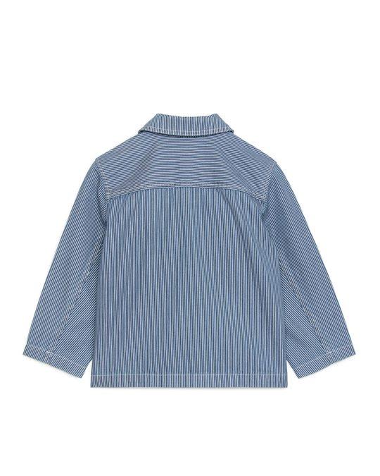 Arket Hickory Workwear Overshirt Blue/white