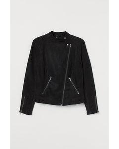 H&m+ Bikerjack Zwart