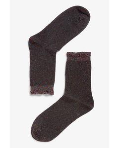 Cutie Lurex Socks Turquoise