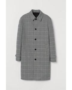 Carcoat Grijs/zwart Geruit
