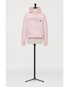 Capuchonsweater Met Print Lichtroze