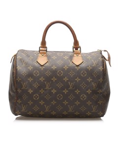 Louis Vuitton Monogram Speedy 30 Brown