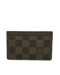 Louis Vuitton Damier Ebene Card Holder Brown