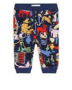Artist Edition Printed Sweatpants Dark Blue/multicolour
