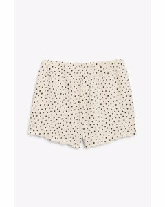 Textured Shorts Black And Beige Spots