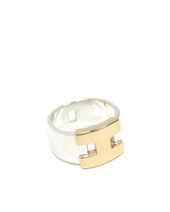 Hermes 18k Hercules Ring Silver