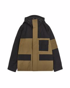 Water-Repellent Shell Jacket Brown/Black