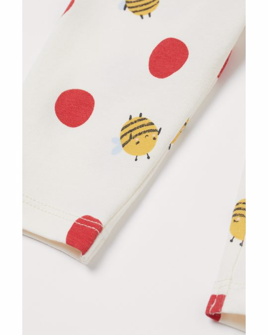 H&M 3-piece Cotton Set Light Red/bees