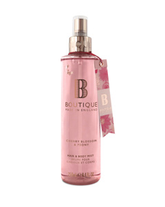 Boutique Cherry Blossom & Peony Hair & Body Mist 250ml