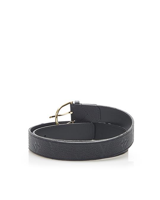 Louis Vuitton Louis Vuitton Monogram Empreinte Leather Belt Black