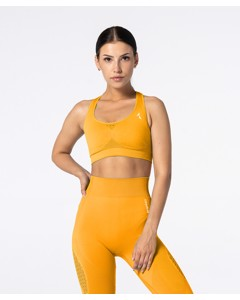 Carpatree Phase Seamless Bra Golden Yellow