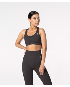 Carpatree Phase Seamless Bra Graphite