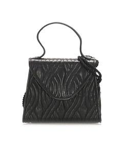 Fendi Quilted Leather Satchel Black