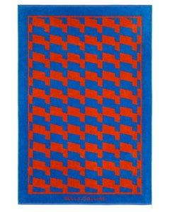 Beach Towel Waves Cherry Tomato/palace Blue