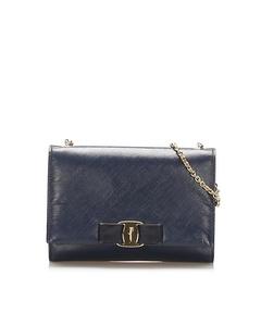 Ferragamo Vara Ginny Crossbody Bag Blue
