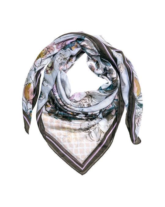 H&M Patterned scarf Light blue/Floral