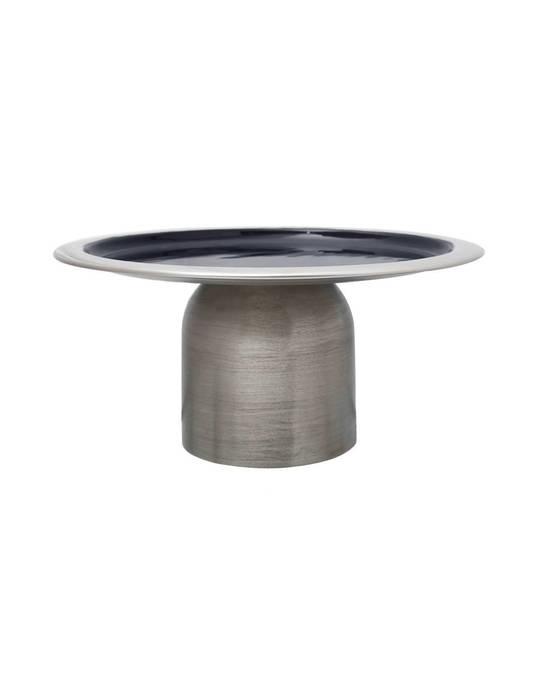 360Living Cake Platter Art Deco 325 Silver / Dark Blue