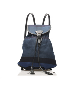 Burberry Canvas Backpack Blue