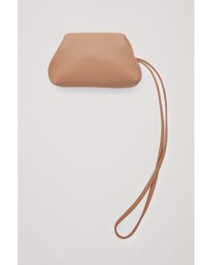 Leather Lanyard Purse Beige