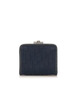 Dior Dior Oblique Canvas Coin Pouch Blue