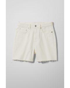 Eya Denim Shorts White