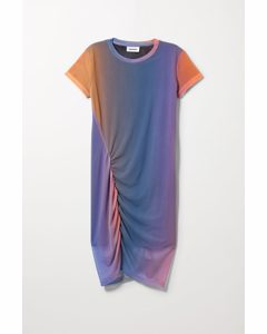 Darcy Ruched Dress Sunset