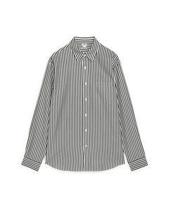 Fluid Lyocell Shirt White/black