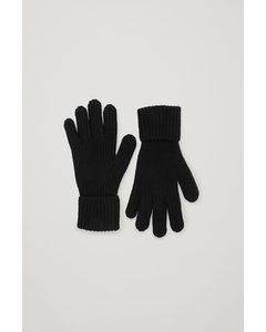 Ribbed Cashmere Gloves Black