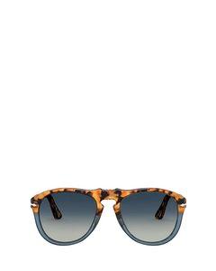 Po0649 Brown Tortoise & Opal Blue Solglasögon