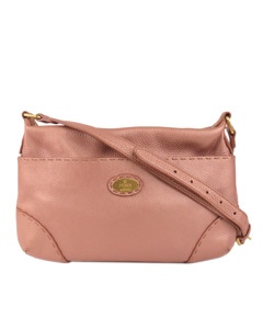 Fendi Selleria Leather Crossbody Bag Pink