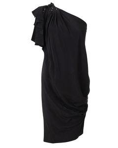 One Shoulder Embellished Drape Dress