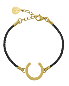 Fortune Armband Cord Black Gold