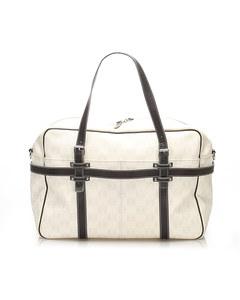 Loewe Anagram Leather Travel Bag White