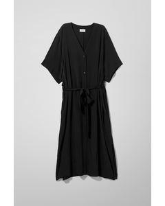 Verna Shirt Dress Black