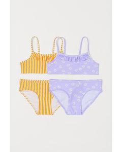 2-pack Bikini Ljuslila/randig