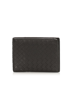 Bottega Veneta Intrecciato Leather Bifold Wallet Brown