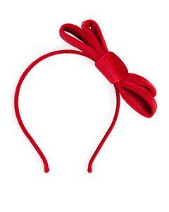 Haarreif mit Schleife Roter Samt