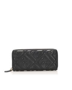 Fendi Zucca Leather Zip Wallet Black