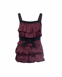 Square Neckline Ruffled Front Top