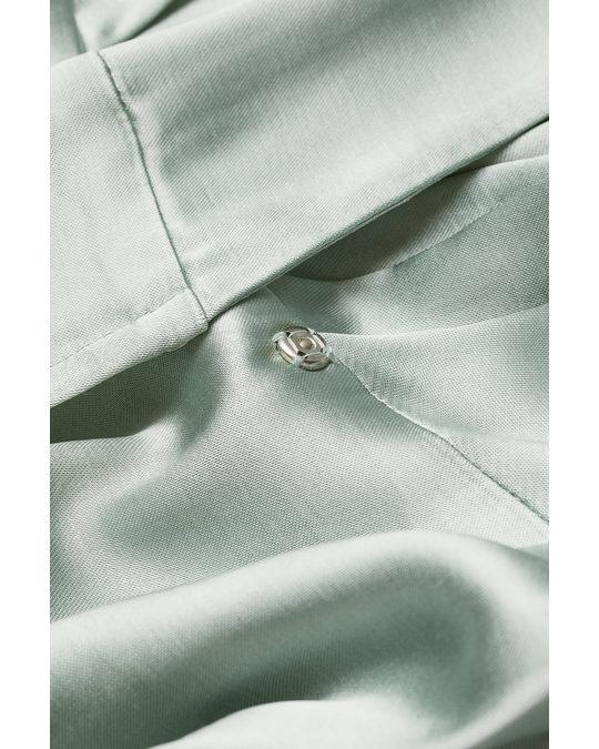 H&M V-ringad Klänning Salviagrön
