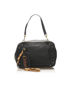 Chloe Eden Leather Shoulder Bag Black